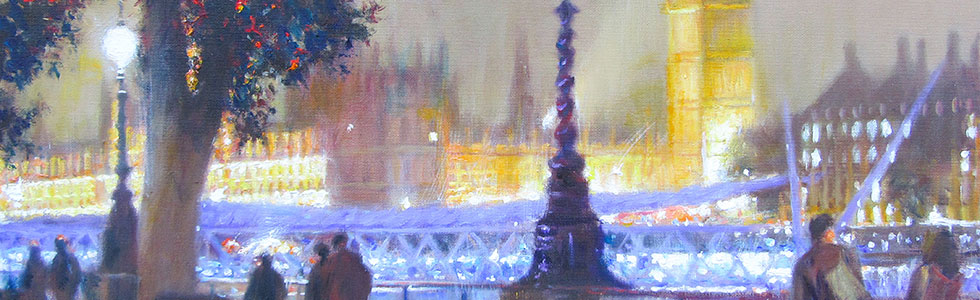 Tony Sheath – Westminster from across the Thames at night