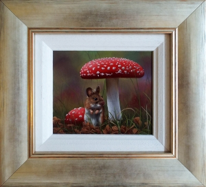 Framed Mouse Oil Painting by Carl Whitfield